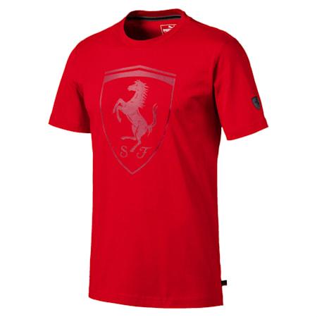 Ferrari Big Shield Regular Fit Men's T-Shirt, Rosso Corsa, small-IND