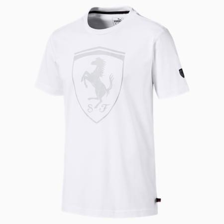 フェラーリ ビッグ シールド Tシャツ 半袖, Puma White, small-JPN