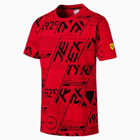 Scuderia Ferrari AOP Men's T-Shirt, Rosso Corsa, small-IND