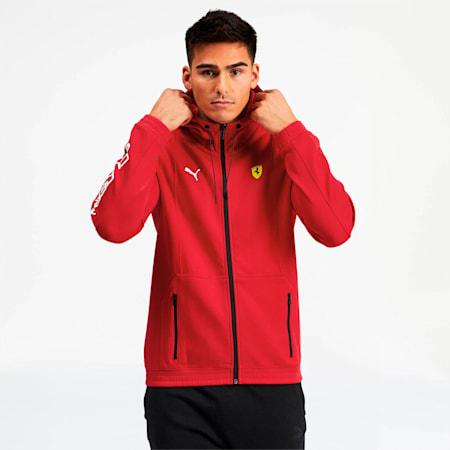 Scuderia Ferrari Men's Hooded Sweat Jacket, Rosso Corsa, small
