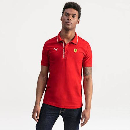 Polo Ferrari pour homme, Rosso Corsa, small