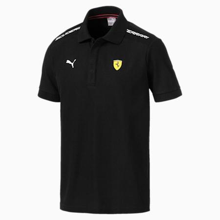 Scuderia Ferrari Q4 Men's Polo Shirt, Puma Black, small-IND