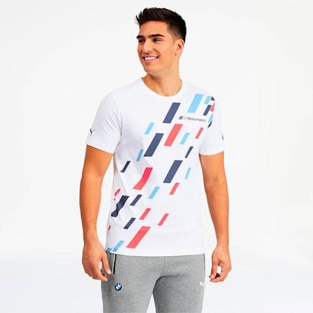 T-shirt graphique BMW M Motorsport, homme, Blanc Puma, petit