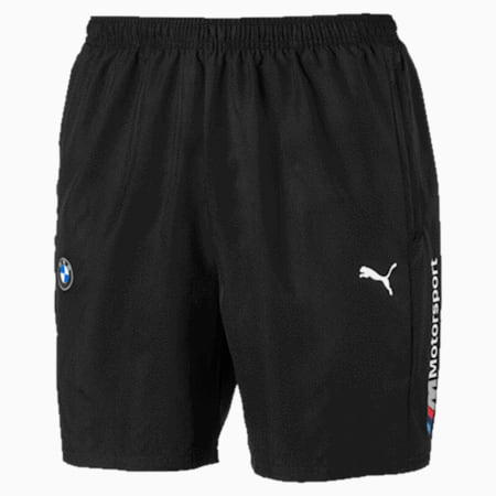BMW M Motorsport Woven Men's Shorts, Puma Black, small-SEA