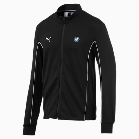 BMW Motorsport Slim Fit Men's Track Jacket, Puma Black, small-IND
