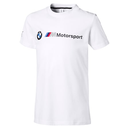 BMW M Motorsport Logo Kids' T-Shirt, Puma White, small-IND
