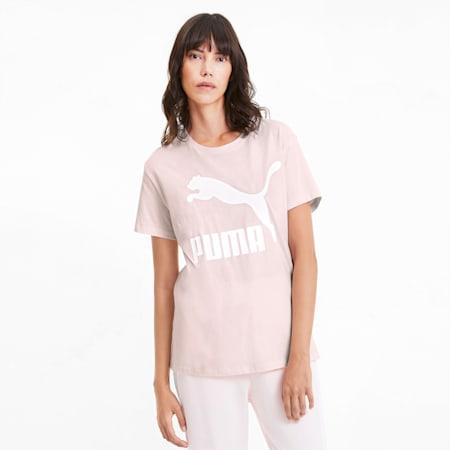 Classics Logo Damen T-Shirt, Rosewater, small