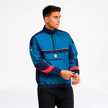 Scuderia Ferrari Street Men's Woven Jacket, Galaxy Blue, small