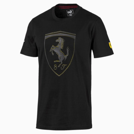 Ferrari Big Shield Men's Tee, Puma Black, small-SEA