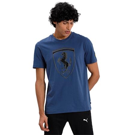 Ferrari Big Shield Men's T-Shirt, Dark Denim, small-IND