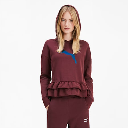 PUMA x TYAKASHA Women's Hoodie, Vineyard Wine, small