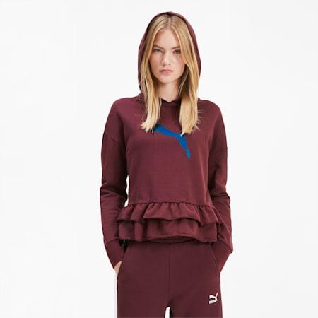 Sweatshirt à capuche PUMA x TYAKASHA pour femme, Vineyard Wine, small