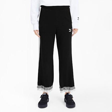 PUMA x TYAKASHA Knitted Women's Culottes, Cotton Black, small-SEA