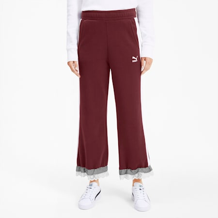 PUMA x TYAKASHA Knitted Women's Culottes, Vineyard Wine, small