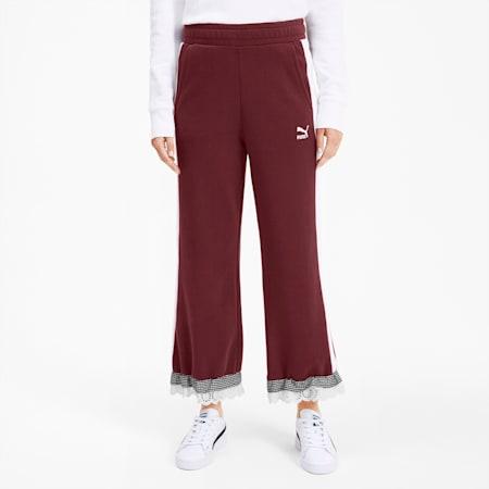 Pantalon jupe-culotte tricoté PUMA x TYAKASHA pour femme, Vineyard Wine, small