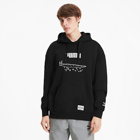 PUMA x TYAKASHA Men's Hoodie, Cotton Black, small