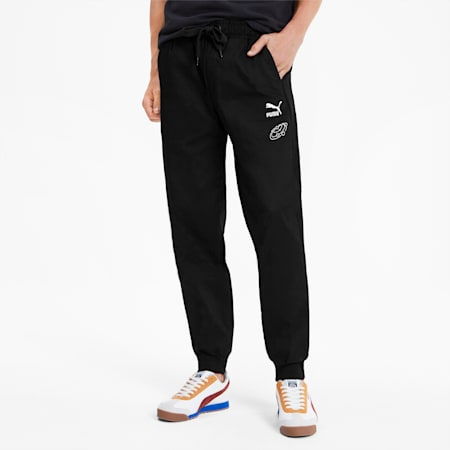 PUMA x TYAKASHA Woven Men's Pants, Cotton Black, small-SEA