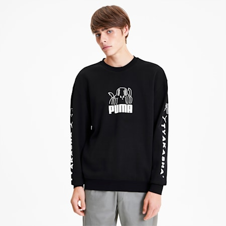 PUMA x TYAKASHA Crew Men's Sweater, Cotton Black, small-SEA
