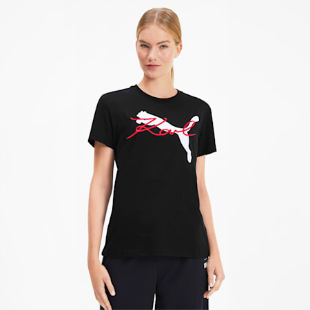 PUMA x KARL LAGERFELD Women's Tee, Puma Black, small-SEA