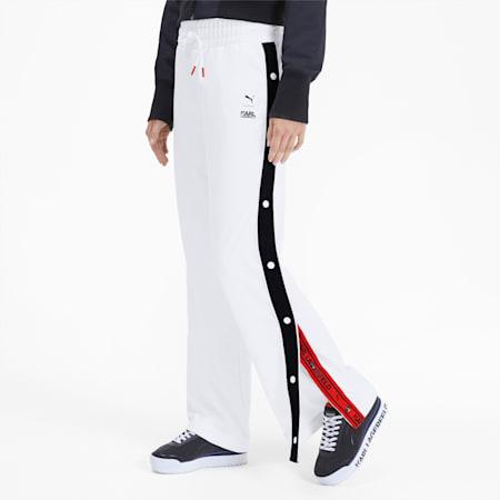 PUMA x KARL LAGERFELD Knitted Women's Wide Pants, Puma White, small-SEA