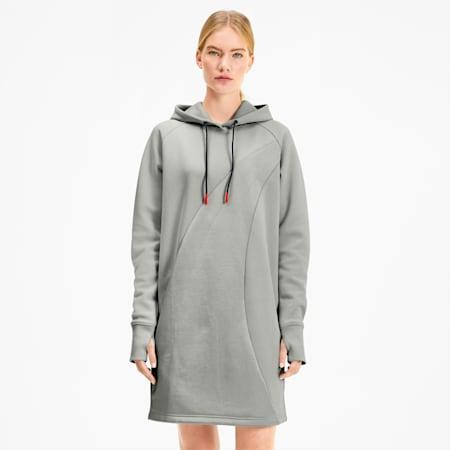 PUMA x KARL LAGERFELD Women's Hooded Dress, Gray Violet, small
