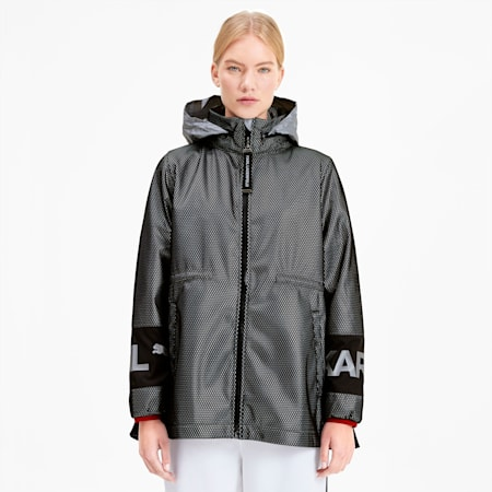PUMA x KARL LAGERFELD Women's Outerwear Jacket, Puma Black, small