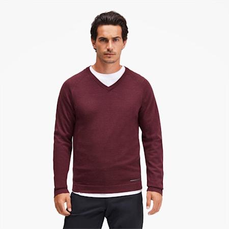 Porsche Design evoKNIT V-neck Men's Sweater, Zinfandel, small-SEA