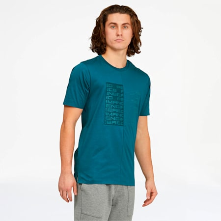 Porsche Design Men's Graphic Tee, Moroccan Blue, small
