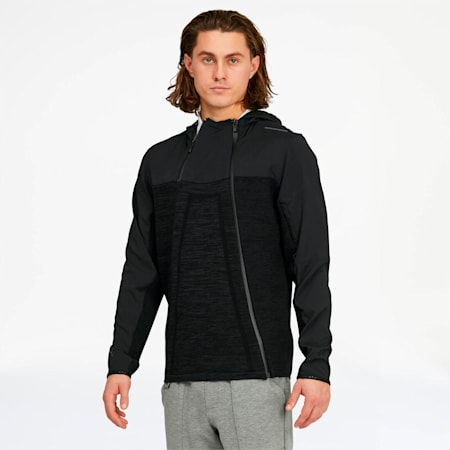 Porsche Design Active Men's Hooded Midlayer, Jet Black, small