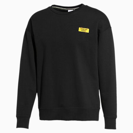 PUMA x CHINATOWN MARKET Long Sleeve Men's Sweater, Puma Black, small-SEA