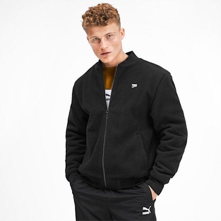 Downtown Men's Sherpa Jacket, Puma Black, small