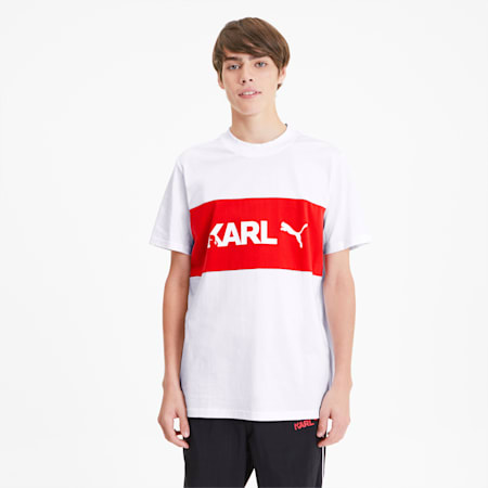 Camiseta PUMA x KARL LAGERFLED para hombre, Puma White, pequeño