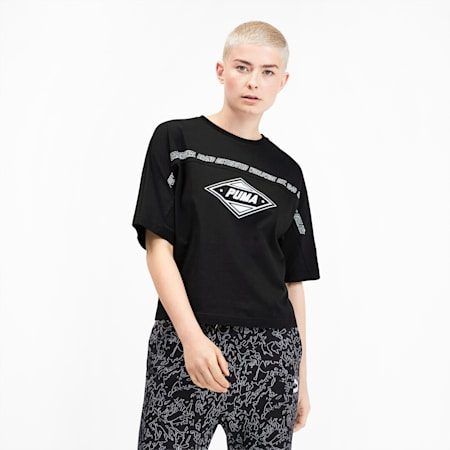 luXTG Women's Tee, Puma Black, small
