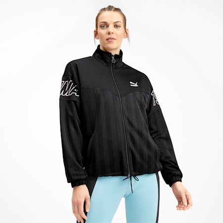 luXTG Jacquard Women's Track Jacket, Puma Black, small