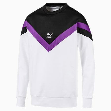 Iconic MCS Crew Men's Sweater, Puma White, small-SEA