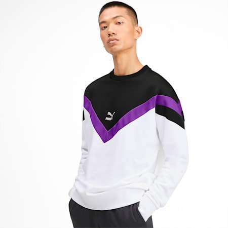 Iconic MCS Crew Men's Sweater, Puma White, small-IND