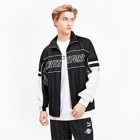 luXTG Men's Woven Jacket, Puma Black, small