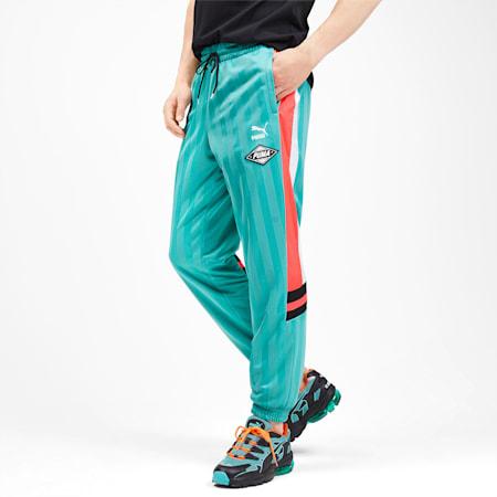 luXTG Men's Woven Pants, Blue Turquoise, small