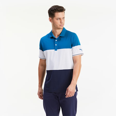 Cloudspun Taylor Men's Golf Polo Shirt, Digi-blue, small