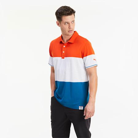 Cloudspun Taylor Golf poloshirt voor heren, Pureed Pumpkin, small