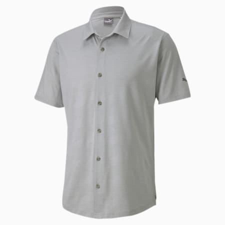 Easy Living Short Sleeve Men's Golf Shirt, High Rise Heather, small-SEA