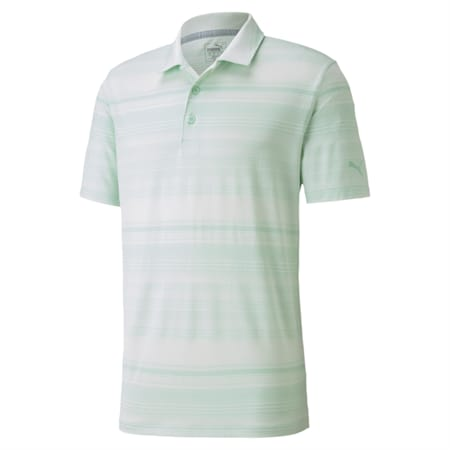 Variegated Stripe Polo, Mist Green Heather, small-IND
