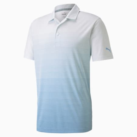 Ombre Men's Polo, Blue Bell Heather, small