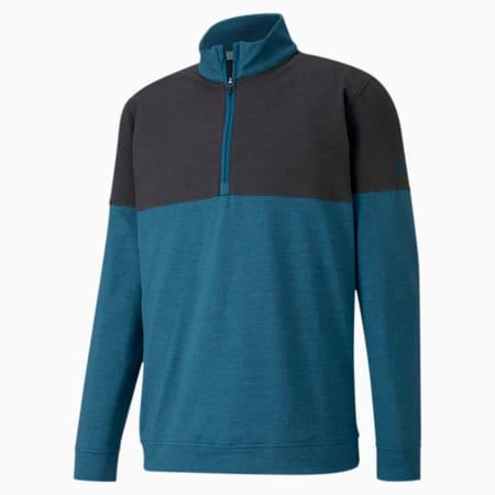 클라우드 스판 웜업 1/4 집업 긴팔 티셔츠/Cloudspun Warm Up ¼ Zip, Digi-blue-Puma Black, small-KOR