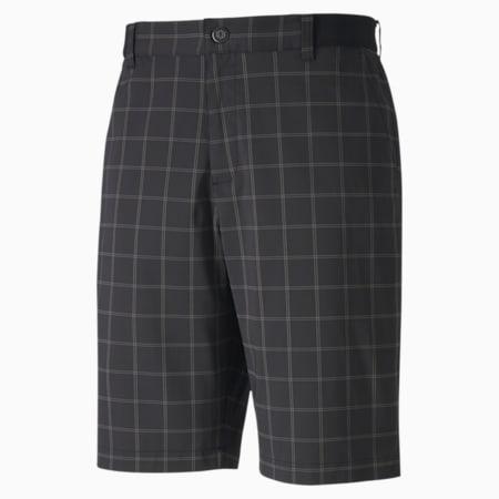 Plaid Men's Golf Shorts, Puma Black, small