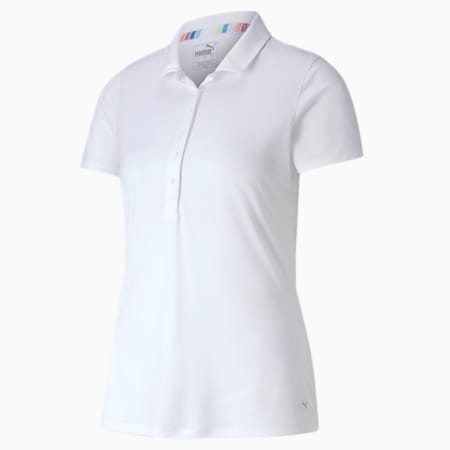 Rotations Women's Polo Shirt, Bright White, small-GBR