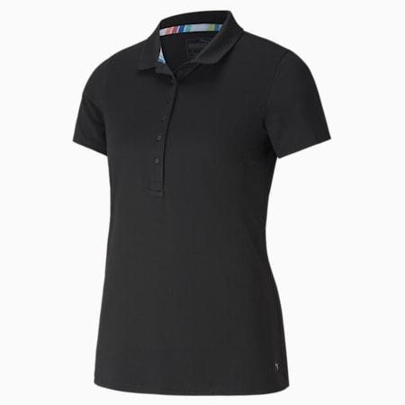Camiseta tipo polo Rotation para mujer, Puma Black, small