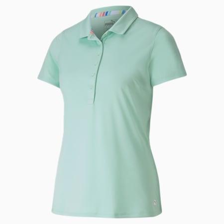 Rotations Women's Polo Shirt, Mist Green, small-SEA