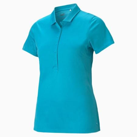 Damska koszulka polo Rotations, Scuba Blue, small