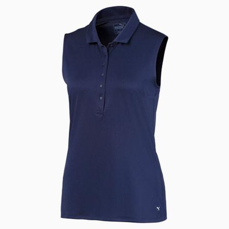 Rotation Sleeveless Women's Golf Polo Shirt, Peacoat, small